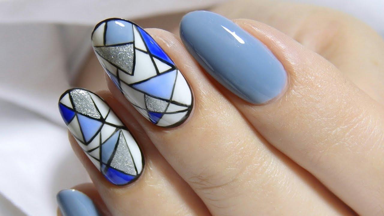 Proste Wzorki Niebieskoszara Geometria Geometryczne Wzory