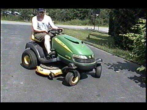 hqdefault john deere sst16 lawn tractor with 16hp v twin briggs engine youtube