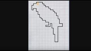 Попугай (графический диктант по клеточкам), рисуем по клеточкам попугайчика