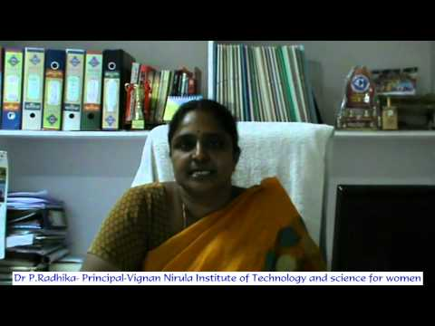 Dr P Radhika-Principal-Vignan Nirula Institute of Technology and Science for women