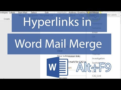 Personalized Hyperlinks In Mail Merge MS Word