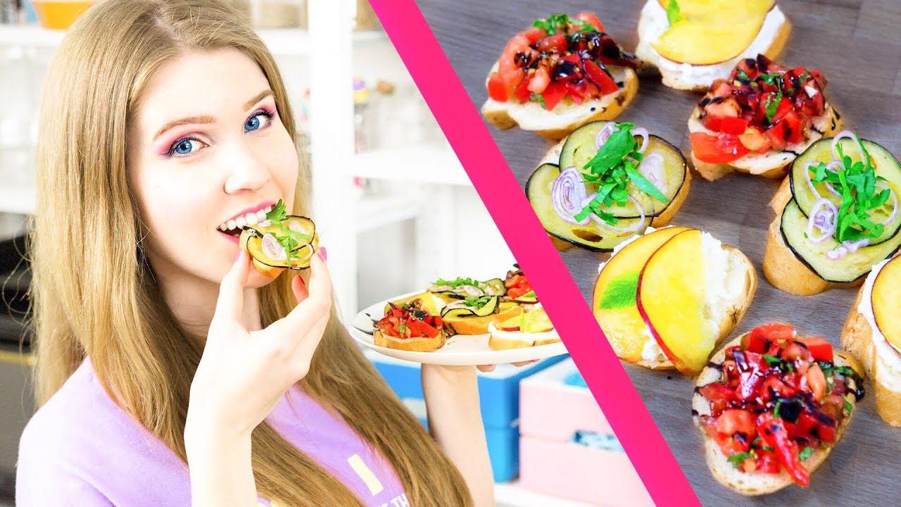 C ЧЕМ ЕСТЬ БАГЕТ? | Фруктовые и овощные брускетты