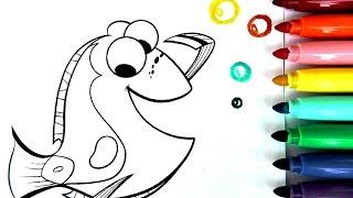 ROTULADORES MÁGICOS DE BUSCANDO A DORY CON DIBUJOS SORPRESA. Color Wonder de Crayola Buscando a Dory