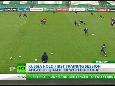 Fabio Capello's Russia training ahead of 2014 qualifier with Portugal