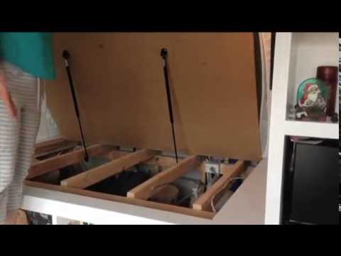 Save Space With A Fold Up Bed Using Gas Struts Youtube