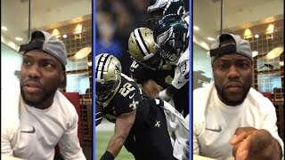 Kevin Hart Reacts To Philadelphia Eagles Loss To The New Orleans Saints