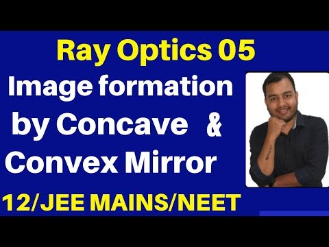 Ray Optics 05 : Image Formation By Concave & Convex Mirror For Different Position Of Object JEE/NEET