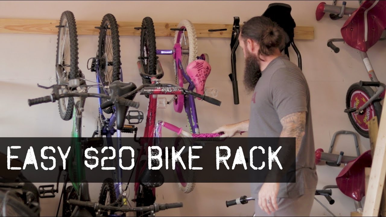 Bike Rack For The Garage Awesome Garage Bike Rack Storage Build It For 20