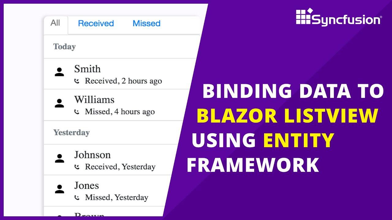 Binding Data to Blazor ListView Using Entity Framework