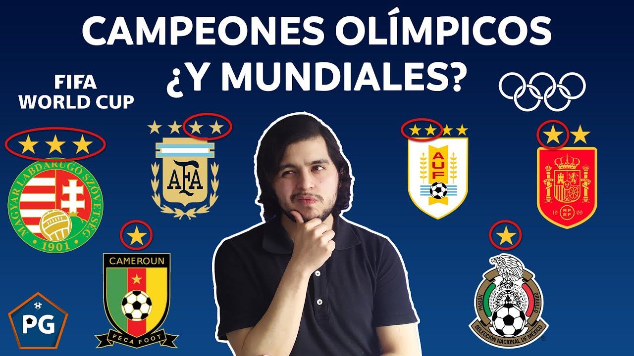 SI los CAMPEONES OLÍMPICOS fueran CAMPEONES MUNDIALES ¿Cuántos títulos tendrían las selecciones?