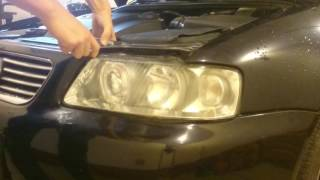 jak zdjąć przedni reflektor od audi a3 8l how to remove the front headlight from audi a3 8l