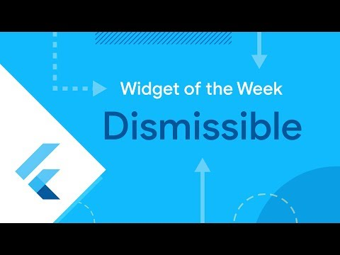 Dismissible (Flutter Widget of the Week)