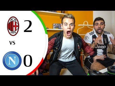 2 BABÀ e a CASA! PIATEEEKKKK!!!! 😍 - MILAN 2-0 NAPOLI   LIVE REACTION GOL COPPA ITALIA HD