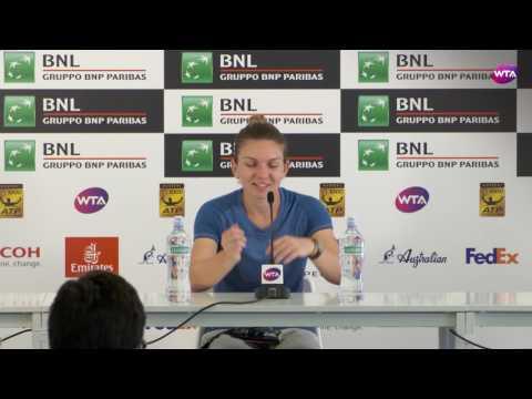 2017 Simona Halep Internazionali BNL d'Italia Quarterfinals Press Conference