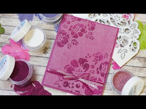 Mother's Day Card with Bloom Glitter Palette