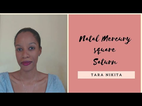 Repeat Natal Mercury Square Saturn | Astrology Aspect Tutorial by