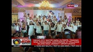 Sara Duterte, tinawag sina Pangilinan, Hontiveros at Trillanes bilang mga umano'y 'oportunista'