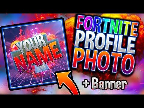 Fortnite: Profile Photo + Banner [Template]   Photoshop