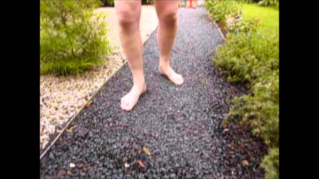 Walking Barefoot On Gravel