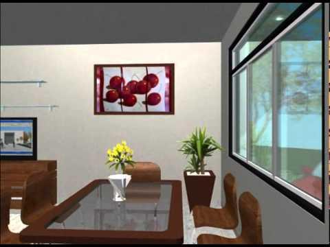 3d casa de 2 plantas youtube - Planos de casas de 2 plantas ...