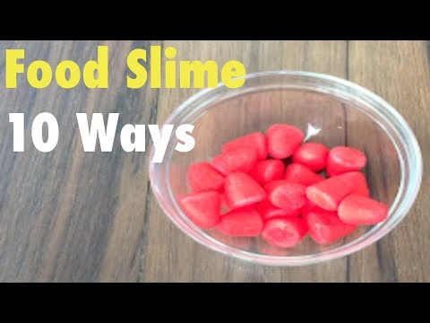 DIY How To Make Slime Without Glue or Borax!! Food Slime Compilation Videos