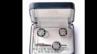 한국전통선물 커프스버튼 넥타이핀 동영상-VIP외국인 선…