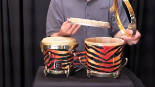 LP Aspire bongos with S Series Fiberskyn heads, mounting tips