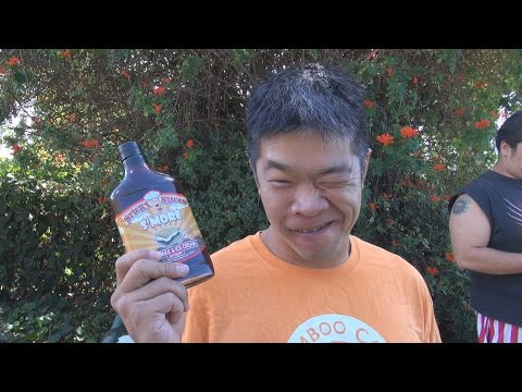 Sticky Stacks S'More Cake & Ice Cream Syrup Challenge
