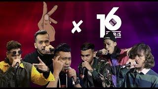 K-Clique x 16 Baris (  Tuju  |  MK  |  Fareedpf  |  SOMEAN  |  Noki  |  Gnello  ) Full Episode