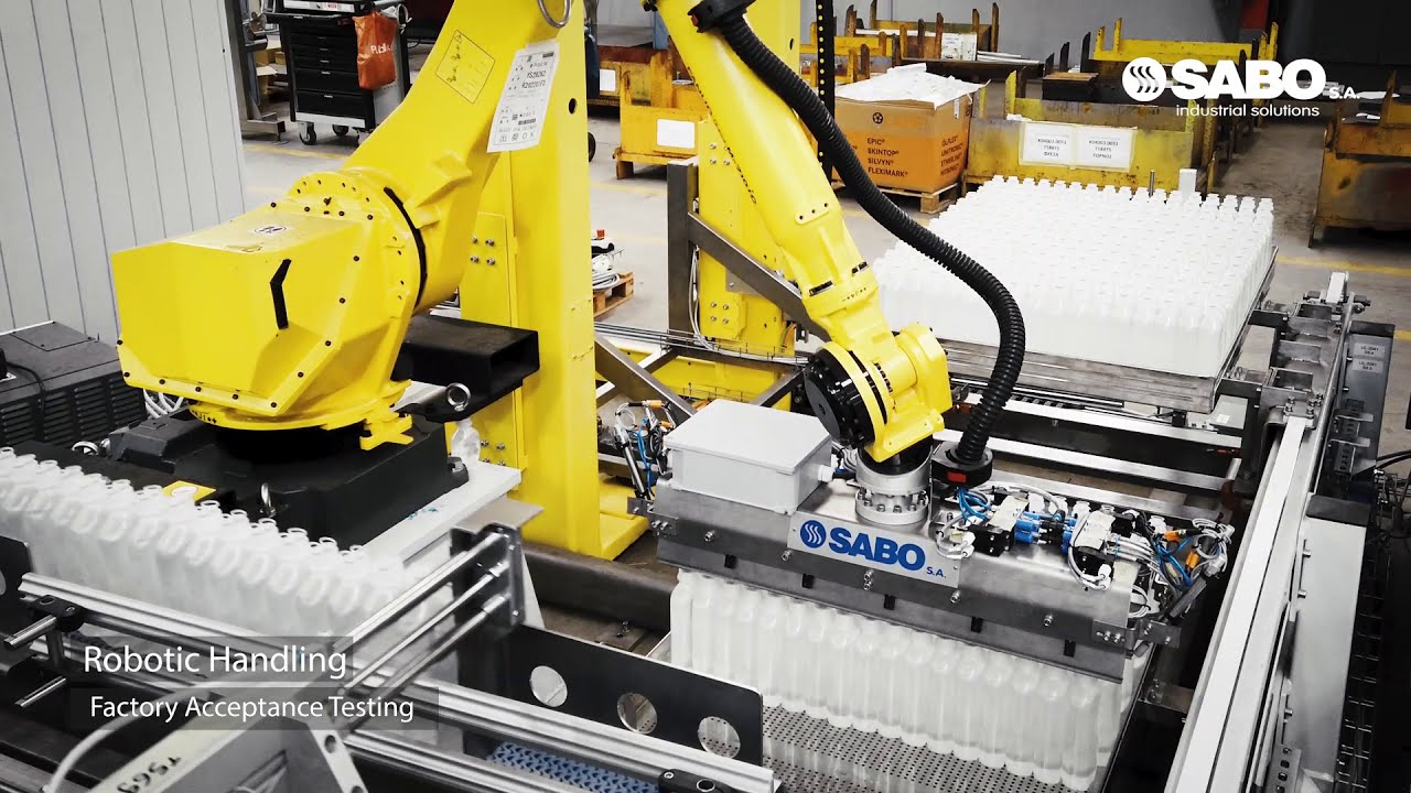 FAT of a new robotic line for the pharmaceutical industry