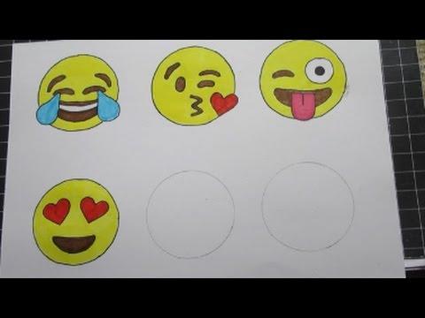 Emojis Leren Tekenen Deel 2 Met Uitleg Youtube