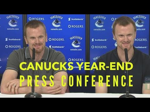 Vancouver Canucks: year-end press conference and my playoff pool