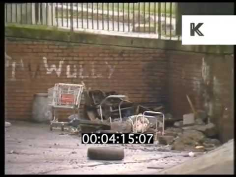 1980s Gritty Inner City Council Estate, Glasgow