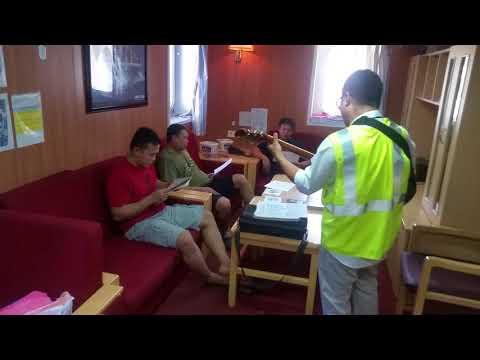 CMA CGM Thames ship Gospel meeting 1