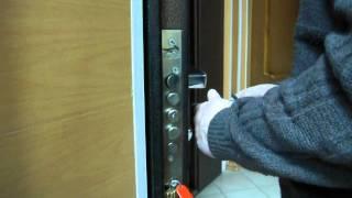видео Входная дверь эконом-класса с замком Эльбор