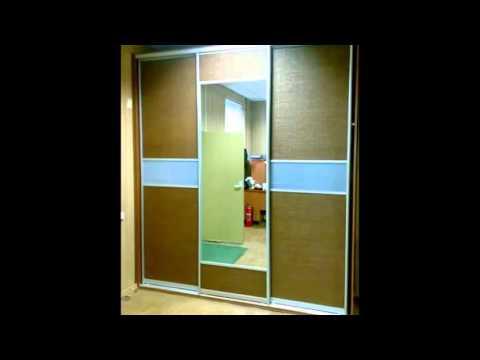 Шкаф-купе с доводчиками Киев код: 9382. Мебель спальню, двери с рисунком, покраска на зеркале