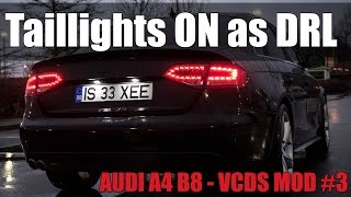 Audi A4 B8 - VCDS MOD#9 - Reverse LED No Bulb Warning