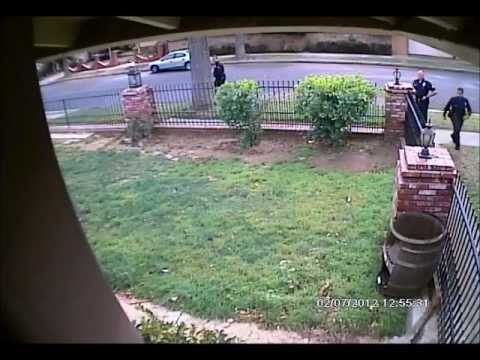 LAPD enters gated yard without search warrant... Girlfriend goes out window