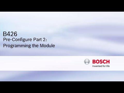 B426 Pre-Configure Part 2: Programming