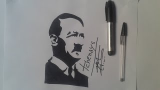 how to draw adolf hitler tattoo...