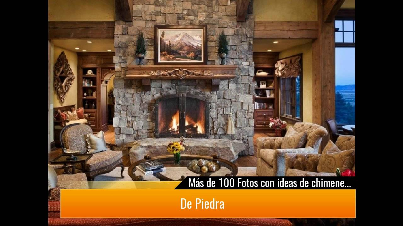 De 100 fotos con ideas de chimeneas r sticas youtube - Fotos casas rusticas modernas ...