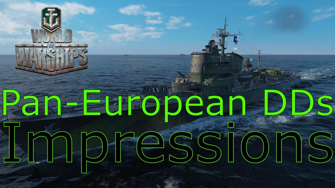 World Of Warships Pan European Destroyers Impressions