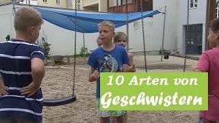 10 Arten von Geschwistern (August 2015)
