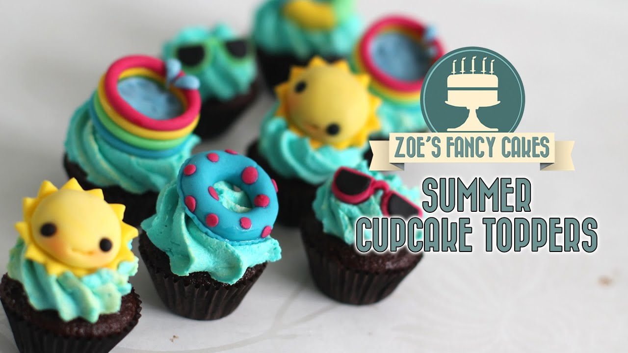 Summer cupcake ideas how to make sunny summer cake toppers YouTube