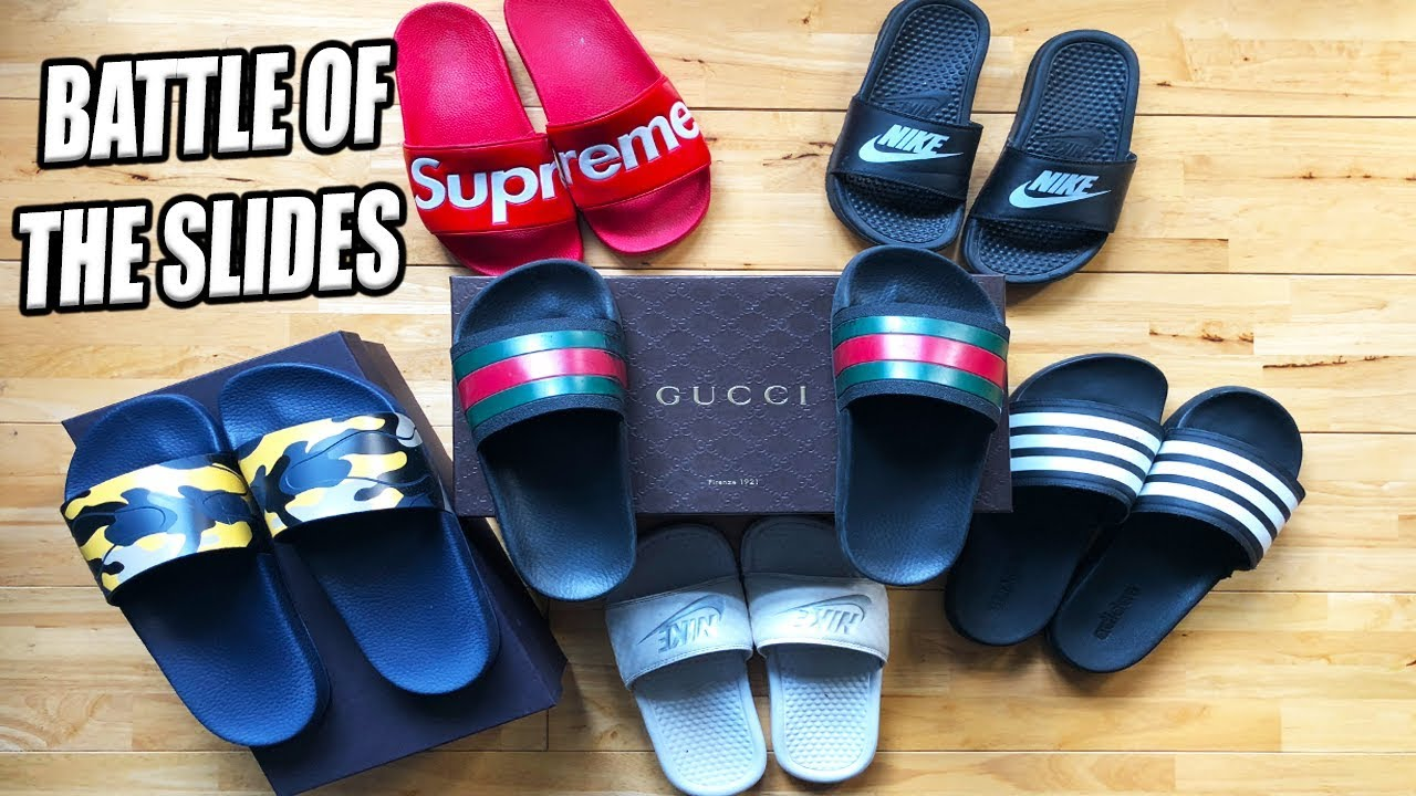 Gucci Flip Flops Vs Supreme Valentino Nike Adidas Slides Battle Of The