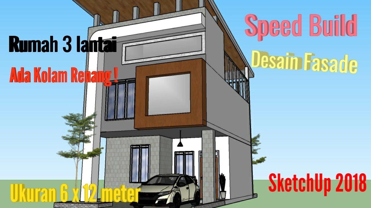 43 Desain Kolam Renang Sketchup HD Terbaru