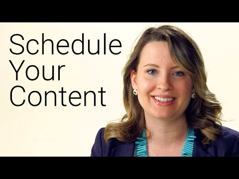 Get Into an Upload Schedule