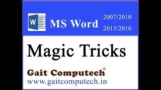 ms word magic tricks in Hindi 6 type line in Microsoft word 2016/2013/2010/2007