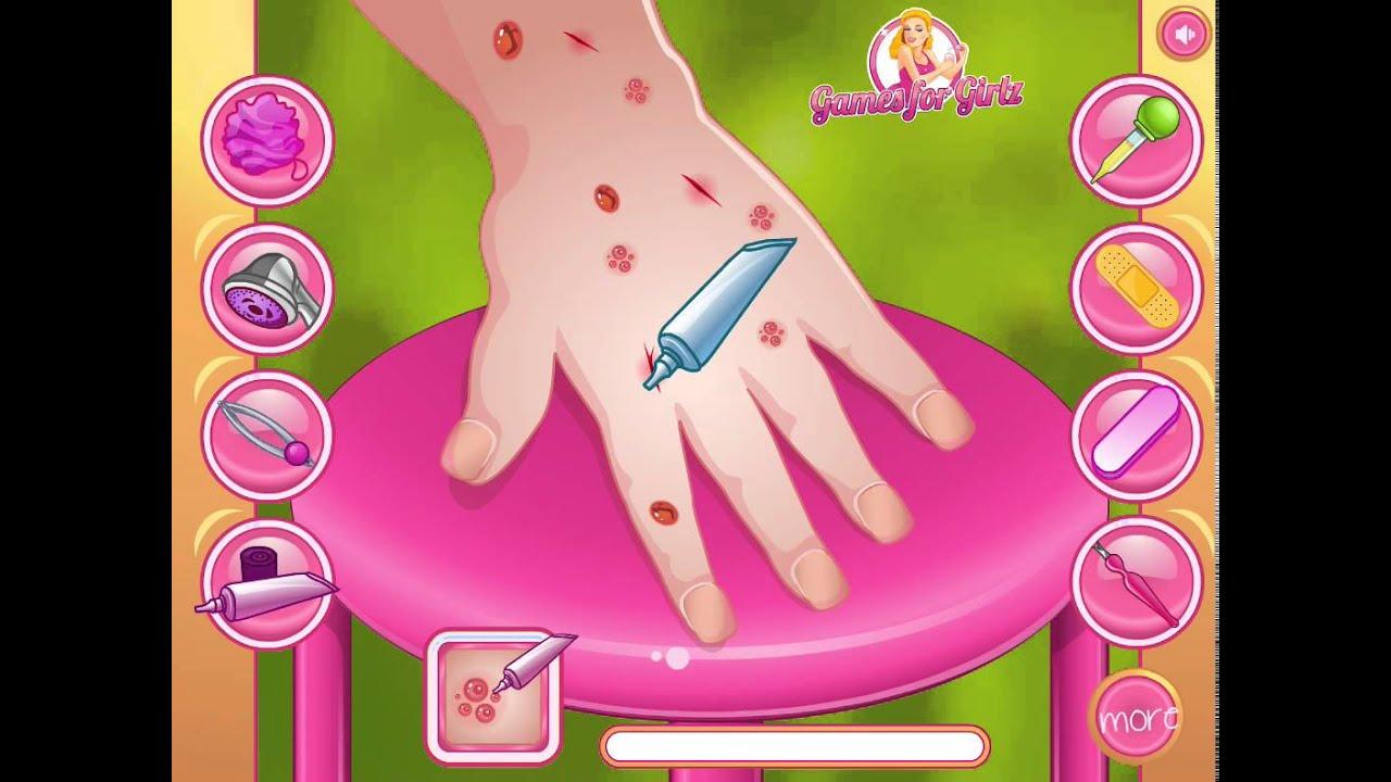 Игры барби маникюр для девочек