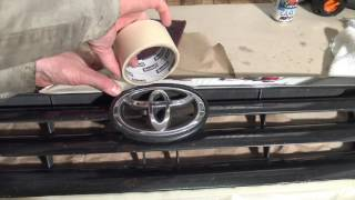 How to repaint car or truck mask grille